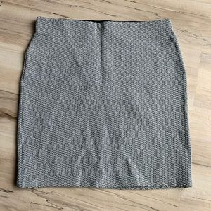 LOFT Mini Bodycon Skirt Blue/Gray Medium